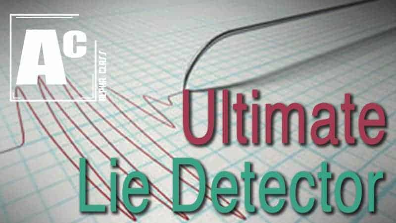 Live Lecture: The Ultimate Lie Detector