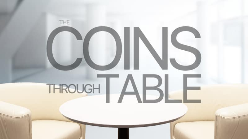 Live Lecture: Coins Through Table