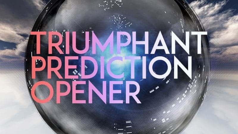 Live Lecture: A Triumphant Prediction Opener