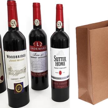 Wine Bottles From Paper Bag (4 Bottles) by Tora Magic