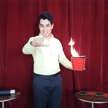 Fire to Colorful Vases (4 Times) by Tora Magic