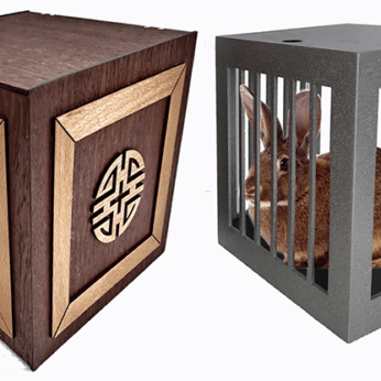 Vanishing and Appearing Dove Cage in a Cube (Wooden) by Tora Magic
