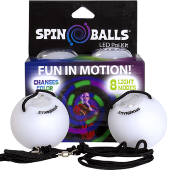 Spinballs LED Glow Poi (Color Changing) by Fun in Motion