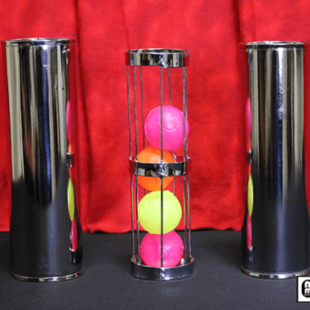 Cage and Cylinder Mystery (Brass) by Mr. Magic