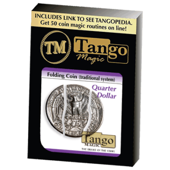 Folding Coin Quarter (D0021) (Traditional) by Tango Magic
