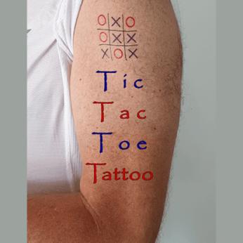 Tic Tac Toe Tattoo by Eran Blizovsky