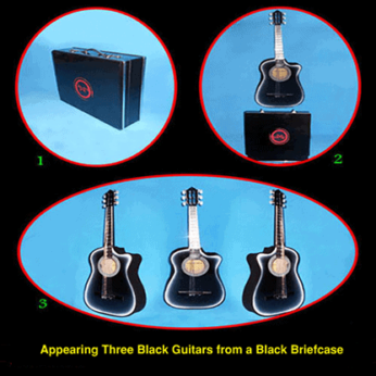 Appearing Guitars from Briefcase (3/Black) by Black Magic