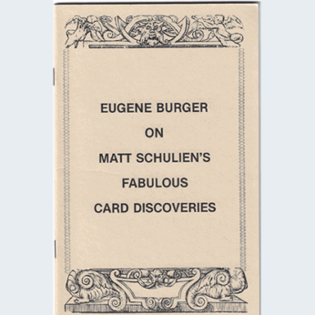 Eugene Burger on Matt Schulien's Fabulous Card Discoveries - Book
