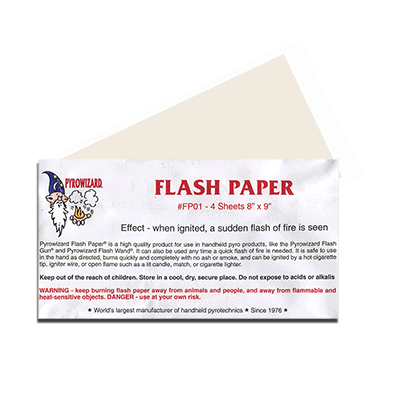 """Theatre Effects Pyrowizard™ Flash Paper Sheets - 4 sheets 8""""x9"""""""
