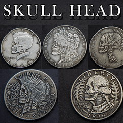 SKULL HEAD COIN by Men Zi Magic