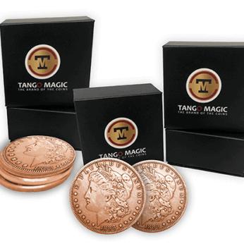 Copper Morgan TUC plus 3 Regular Coins by Tango Magic