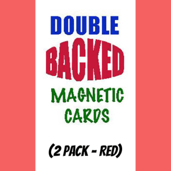 Magnetic Cards (2 pack/Red) by Chazpro Magic