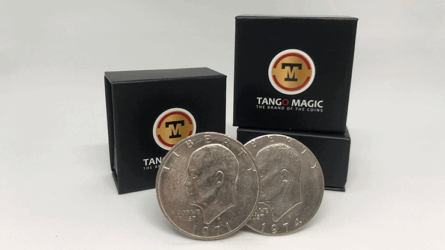 T.U.C (Tango Ultimate Coin)is the result of many years of hard work and professional experience. This gaffed coin allows you to do hundreds of magic effects, it will soon became a classic that will be found in every magicians pockets. The set includes a gaffed coin and an online instructions. In this instructional, you will learn different effects such as: matrix, 3 fly coin, coin thru glass, coin thru deck, coin across, coins transposition and many more ideas and techniques that will give you the tools to create your own magic tricks.